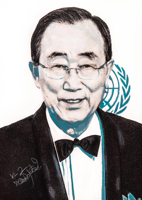 BAN KI-MOON (UNITED NATIONS)   by SHOTPAINT